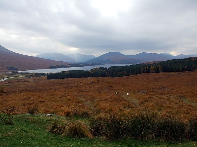 Looking down to Loch Tulla