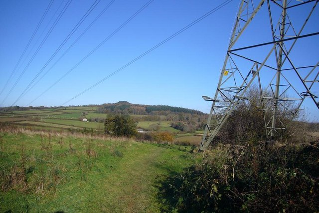 Power Lines over Langage footpath