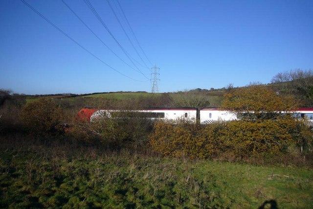 Westbound train on Hemerdon Bank