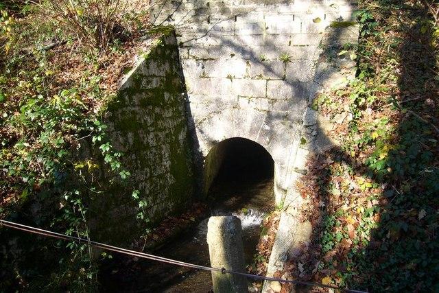 Culvert  through railway embankment