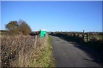 SX5857 : Road, railway and footpath by Nigel Mole