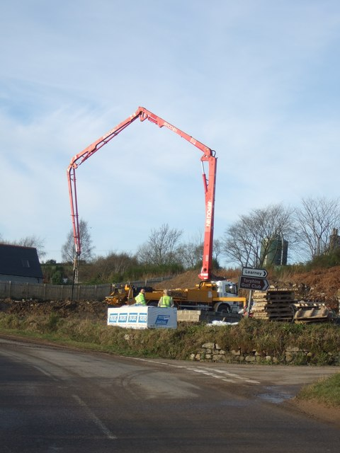 A construction project at Wester Beltie