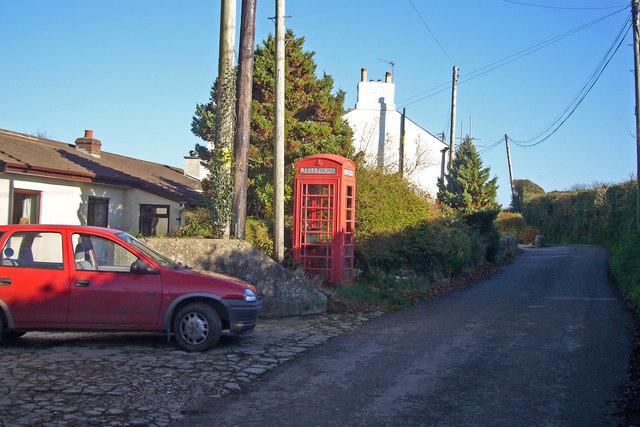 Telephone box in Venton