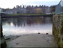 NS3975 : Shore of the River Leven by Stephen Sweeney
