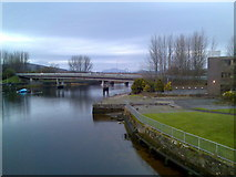 NS3975 : Looking north on River Leven by Stephen Sweeney
