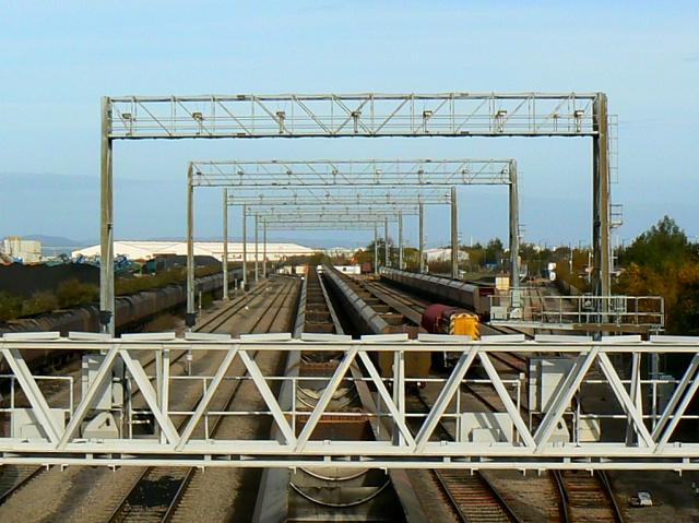 Gantries, St Andrew's Road station, Avonmouth