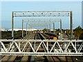 ST5179 : Gantries, St Andrew's Road station, Avonmouth by Brian Robert Marshall