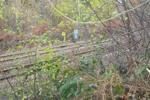 Railway milepost on Hemerdon Bank