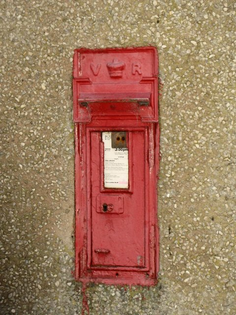 Victorian postbox in Tow House