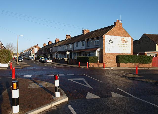 Junction of Saltwells Road and Breckon Hill Road
