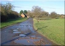 SO8149 : Wet track at Deblin's Green by Trevor Rickard