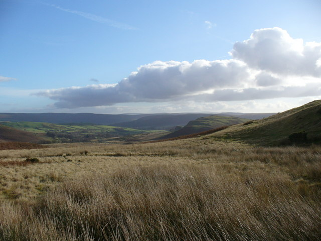 Open country on Gilwern Hill