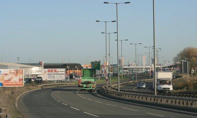 A66, Approaching Cargo Fleet Island