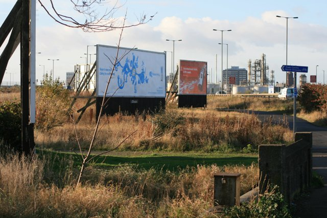 Hoardings Along the A66 Westbound