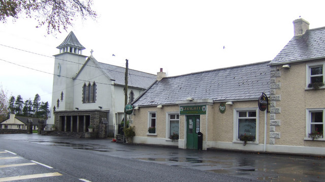 Church and pub; Dunderry, Co. Meath