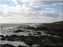 NO5101 : Rocky foreshore near Newark Castle by Gordon Hatton