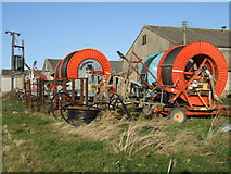 TF3686 : Irrigation equipment near Halfway House by Dave Hitchborne