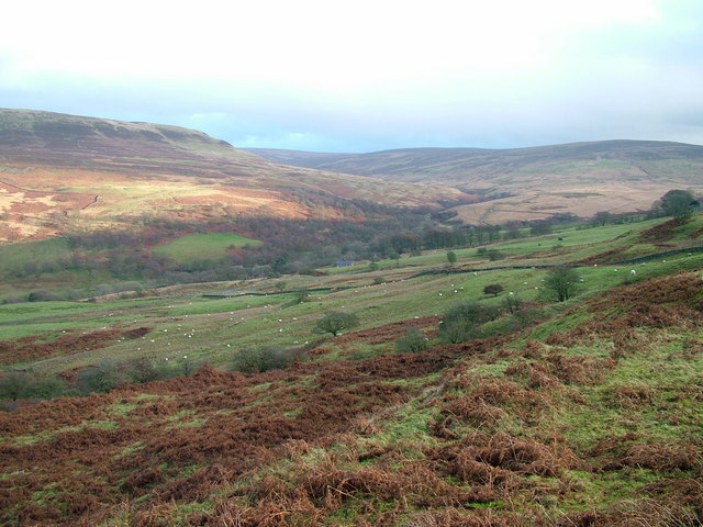 Across the fell to Geltsdale House