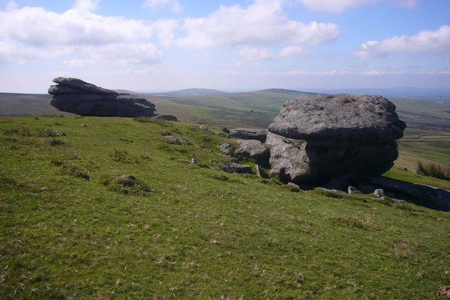 Large boulders on Lynch Tor