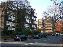 TQ2784 : Blocks of Flats, Haverstock Hill, NW3 by Danny P Robinson
