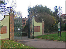 TQ4666 : Priory Gardens gates, Orpington by Ian Capper