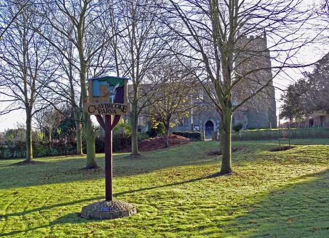 Village sign and Church