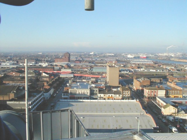 Looking west from the Roof of Thesiger house Grimsby