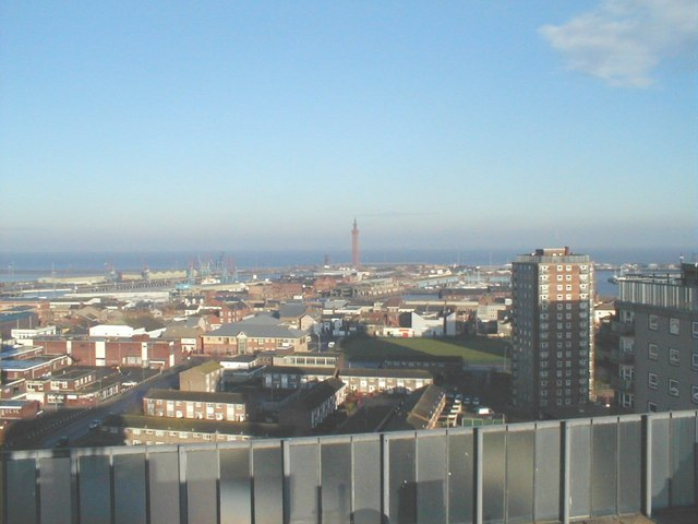 Looking North from the Roof of Thesiger house Grimsby