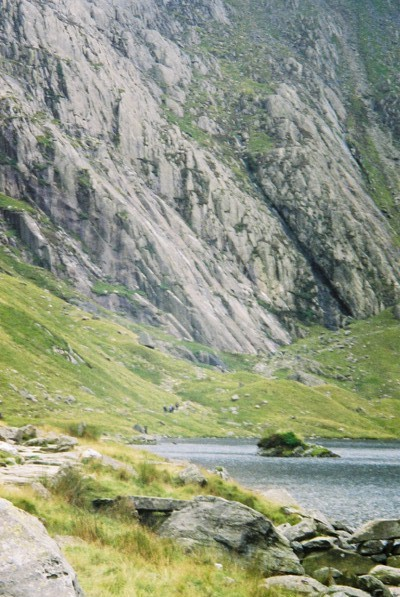 Llyn Idwal and the Idwal Slabs