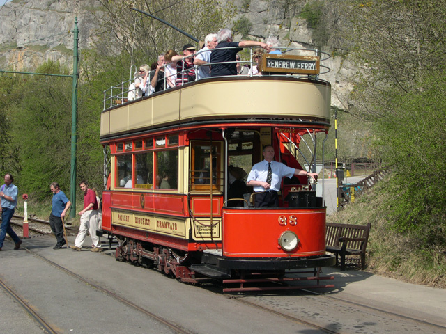 Paisley District Tram (1919) at Crich Tramway Museum, Derbyshire