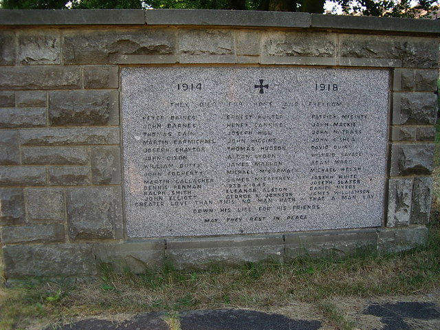 St Joseph's Murton, memorial to war dead