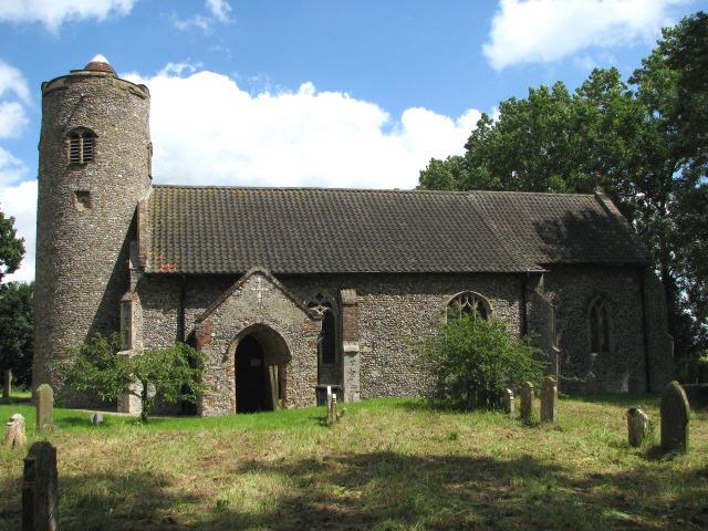 All Saints Church - view across churchyard