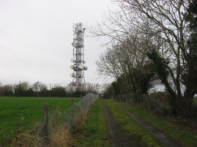 Radio mast at Fourknocks, Co. Meath