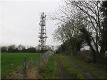 O1162 : Radio mast at Fourknocks, Co. Meath by Kieran Campbell