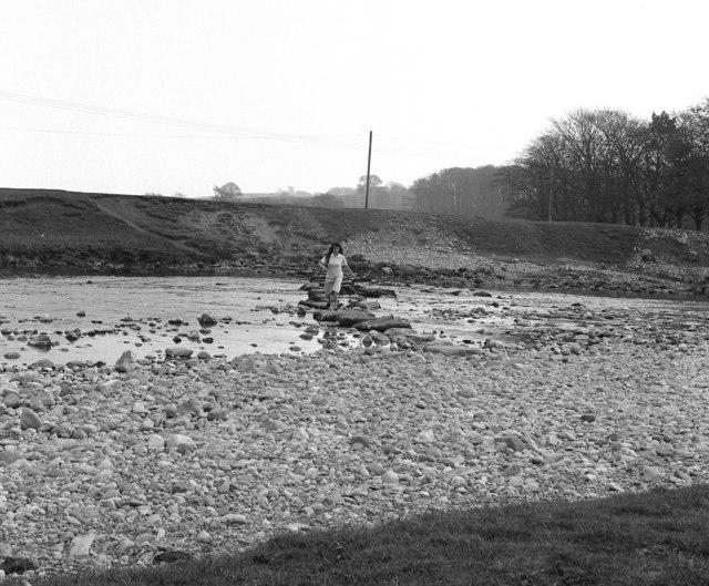 Stepping stones across the Wharfe, Linton, Yorkshire
