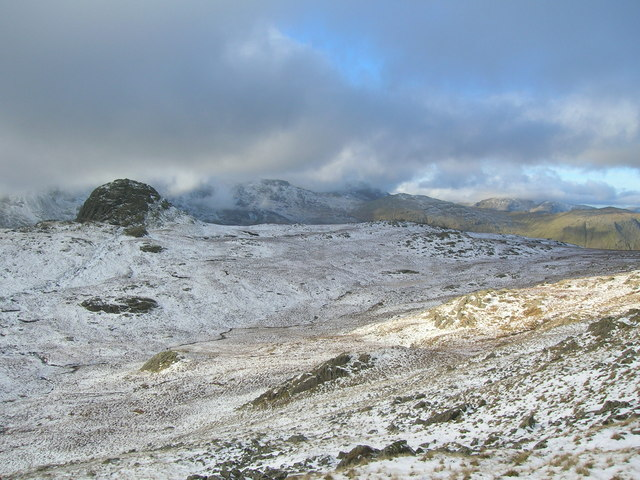 Harrison Combe in the snow