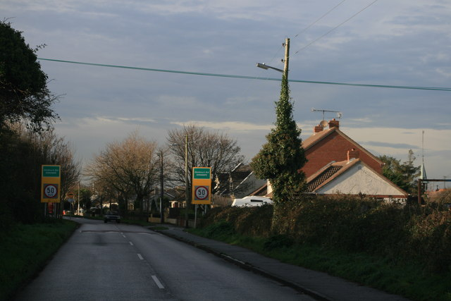 Approaching Donabate, Co. Dublin, from the east, along the Balcarrick Road.
