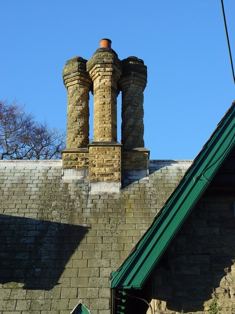 The Lodge - Chimney detail