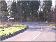 SP4121 : Junction on the A44 south east of Over Kiddington by Bill Johnson