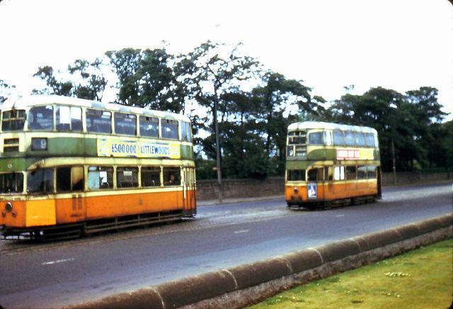 Glasgow trams at Auchenshuggle terminus