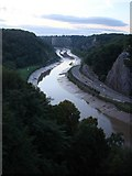 ST5673 : Clifton Suspension Bridge - view of river Avon by Tom Jolliffe