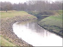 SJ8093 : Confluence of Chorlton brook with the river Mersey by Jim Thornton