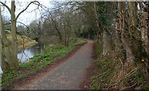 J2865 : The Lagan towpath at Hilden by Albert Bridge