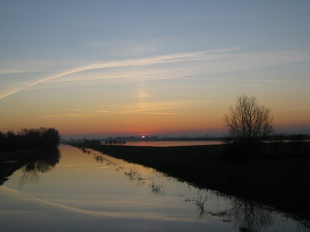 Sunset over the Hundred Foot Drain