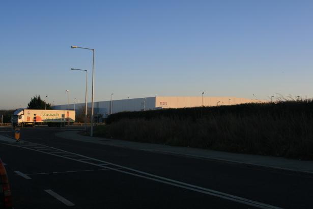Tesco Distribution Centre near Turvey Avenue, Donabate, Co Dublin.
