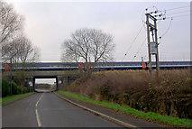 SK7474 : East Coast Main Railway Line bridge by Steve  Fareham