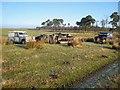 NY6070 : Abandoned vehicles at Dumblar Rigg by Oliver Dixon