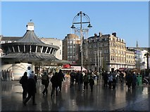 SZ0891 : Bournemouth: The Square at yuletide by Chris Downer