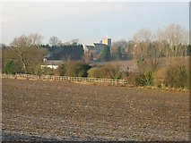 TR3154 : View across the fields to St Mary's church, Eastry by Nick Smith