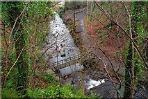 J3996 : Footbridge, Glenoe Glen (5) by Albert Bridge